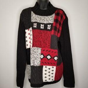 NEW LIZ CLAIBORNE Hand Knitted Women's Sweater Lg